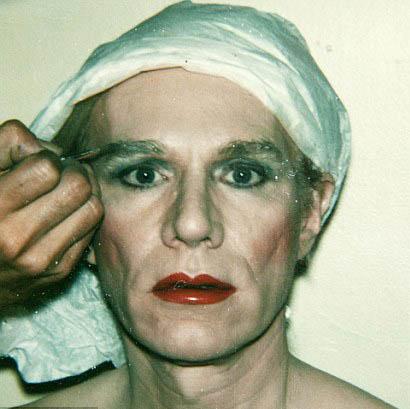 Andy Warhol em um self-portrait