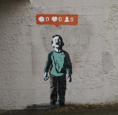 """Nobody Likes Me,"" street art in Stanley Park."
